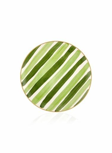 The Mia Fez Pasta Tabağı 6lı Set - 19cm Yeşil Yeşil